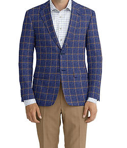 Dormeuil Calypso Navy Brown Window Sportcoat:Y6-4073645  Lining:L4-4072795  Trouser:C8-3644137  Shirt:N6-4072000