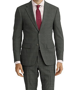 Lt Grey Red Check Suit:E3-4183657  Shirt:N4-3753162