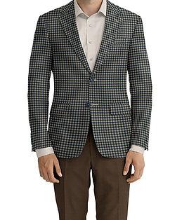Grey Blue Tan Check Jacket:K4-4393608  Lining:L4-4072792  Trouser:Z2-4186902  Shirt:N7-3753346
