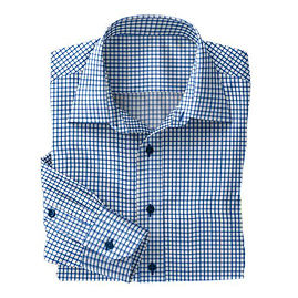 Blue Shepard Twill Check Shirt:N2-3754086
