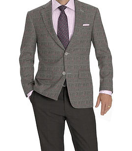 Grey Pink Windowpane Jacket:K4-3874379  Trouser:Z2-4186914  Shirt:N3-3753187