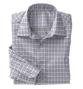 Lt Grey Black Plaid Shirt:N5-4074722