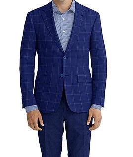 Blue Windowpane Jacket:Z4-3962211  Lining:L4-4072795  Trouser:Z3-3962243  Shirt:N7-4072149