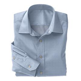 Soktas Lt Blue White Check Poplin Shirt:S2-3540909