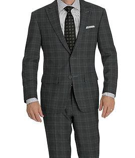 Grey Teal Check Suit:Y4-4292916  Shirt:N3-3753196