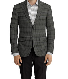 Brown Grey Plaid Jacket:C6-4074221 Trouser:Z2-4186915  Shirt:N6-4071984