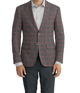 Dormeuil Dorsilk Natural Rouge Check Jacket:Y6-4073695  Lining:L4-4072740  Trouser:Z2-3336912  Shirt:N4-3862528