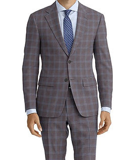 Dormeuil Amadeus Action Grey Shark Ice Check Suit:Y4-4185249  Lining:L2-4073139  Shirt:N5-4071763