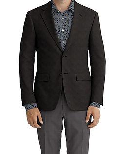 Black Solid Linen Jacket:K4-3861653  Trouser:C6-3644031  Shirt:N6-4072896