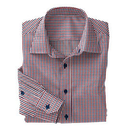 Navy/Red Sport Check Twill Shirt:N5-3753333