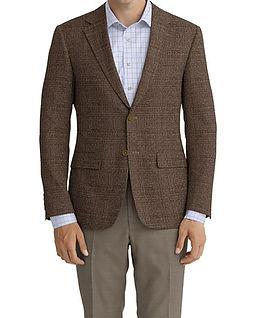 Brown Melange Solid Jacket:Z3-3962141  Lining:L4-4072744 Trouser:Z2-3336924  Shirt:N6-4072086