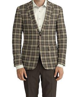 Dormeuil Calypso Natural Check Ecru Window Jacket:Y6-4073659  Lining:L4-4072743  Trouser:Z2-3336926  Shirt:N5-3658490