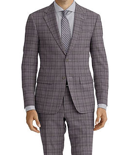 Dormeuil Amadeus Action Grey Ice Powder Check Suit:Y4-4185219  Lining:L2-4073121 Shirt:N5-4071809