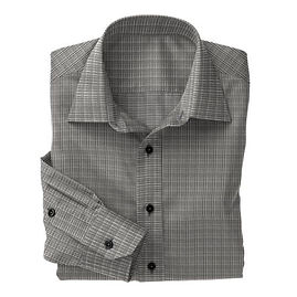 Black Prince of Wales Check Shirt:N3-3340108