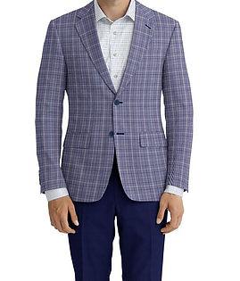 Navy White Plaid Jacket:C6-4074214  Trouser:E2-4392700  Shirt:N6-407197