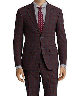 Grey Wine Check Suit:C9-4072373   Shirt:N5-3658469