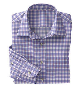 Blue Violet Plaid Shirt:N5-4074721