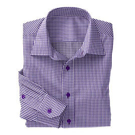 Violet Sport Check Twill Shirt:N5-3753327