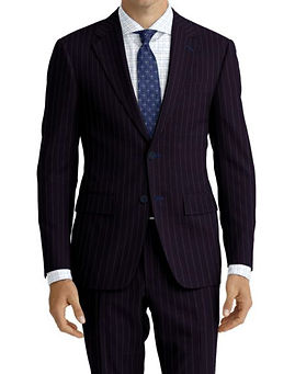 Navy Blue Stripe Suit:Z4-4071926  Shirt:N6-4071985