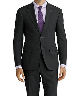 Grey Purple Stripe Suit:E3-4183661  Shirt:N4-3753199