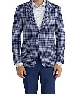 Dormeuil Dorsilk Blue Multi Check Jacket:Y6-4073692  Lining:L4-4072767  Trouser:E1-3642479  Shirt:N6-4071977