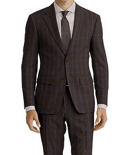 Olive Blue Check Suit:C9-4072377   Shirt:N7-4072116