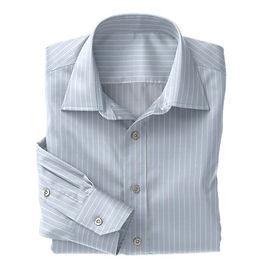 Sky Blue White Stripe Shirt:N3-3340087