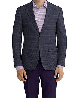 Blue Deep Purple Plaid Jacket:Z3-3962127  Lining:L4-4072797  Trouser:Z1-3336894  Shirt:N7-4072104