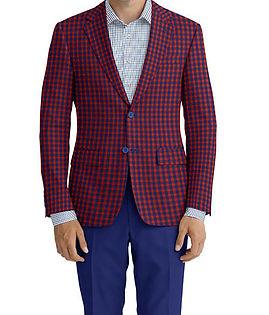 Red Navy Check Jacket:C6-4074182  Trouser:C8-3644101  Shirt:N3-3753226