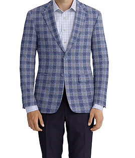 Blue Grey Brown Plaid Jacket:Z3-3962136  Lining:L4-4072720  Trouser:Z3-3962108  Shirt:N6-4072086