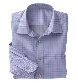Violet Blue Graph Check Shirt:N5-4074734
