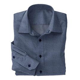 Smokey Blue Melange Shirt:N4-3753557