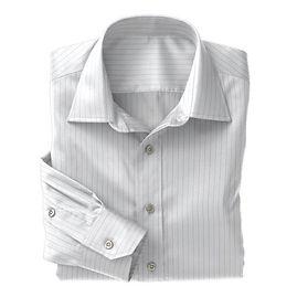 Blue Bankers Stripe Shirt:N3-3340090