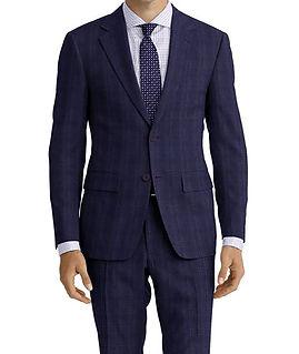 Blue Purple Plaid Suit:C9-4072381   Shirt:N6-4071994