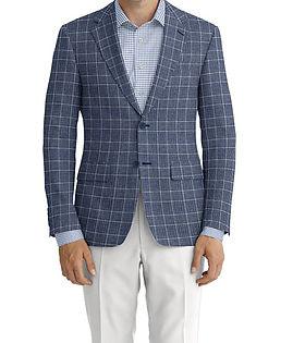 Dormeuil Dorsilk Blue Check Jacket:Y6-4073684  Lining:L4-4072720  Trouser:Y1-4293042  Shirt:N7-4072105