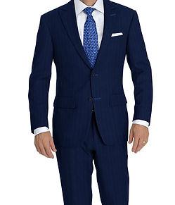 Dormeuil Amadeus 365 Blue Marine Stripe Suit:Y4-4292923  Lining:L4-4072756  Shirt:N5-4071750