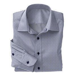 Soktas Blue Navy Check Twill Shirt:S2-3540927