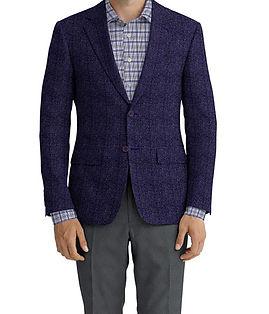Dormeuil Dorsilk Red Blue Texture Glen Jacket:Y4-4185198  Lining:L4-4072720  Trouser:E1-3642471  Shirt:N5-3962776
