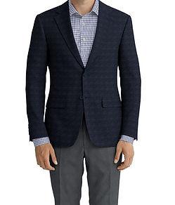 Dormeuil Dorsilk Navy Fleck Sportcoat:Y6-4073709  Lining:L6-4072663  Trouser:E1-3642471  Shirt:N6-4072013