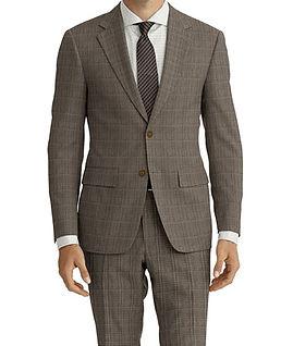 Drago Vantage Tan Lt Blue Glen Plaid Suit:Z2-4071531  Lining:L4-3858927