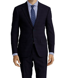 Dormeuil Travel Resistant Blue Micro Check Suit:Y4-4185309  Lining:L6-4072648