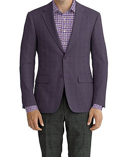Purple Stretch Hopsack Jacket:Z2-3961998  Trouser:C6-4183842  Shirt:N6-3858637