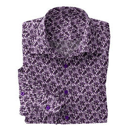 Violet Abstract Floral Shirt:N5-4293135