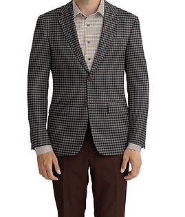 Cerruti Oxygen Tan Blue Brown Check Jacket:Z6-4393573  Lining:L4-4072792  Trouser:E2-4392710  Shirt:N7-4072103