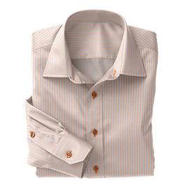 Orange Blue Stripe Poplin Shirt:S4-3541049