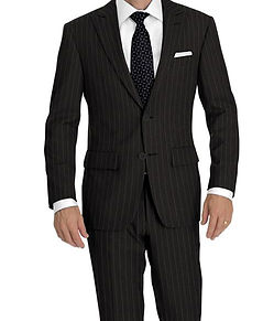 Dormeuil Amadeus 365 Grey Rope Stripe Suit:Y4-4292935  Lining:L4-4072725  Shirt:N5-4071883
