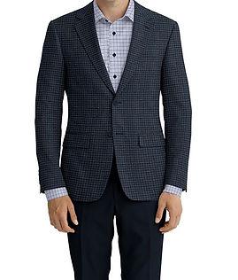 Cerruti Oxygen Blue Brown Navy Houndstooth Jacket:XI-4393557  Lining:L4-4072792  Trouser:C1-4184583  Shirt:N7-4072141