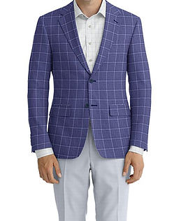 Lt Blue Melange Windowpane Jacket:Z2-3961934 Trouser:C8-3644151  Shirt:N6-3858552