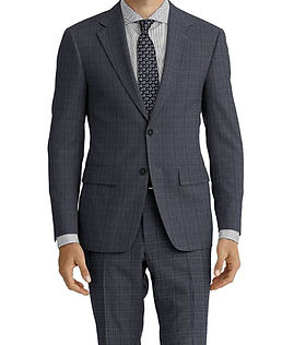 Lt Grey Check Suit:E3-4183640 Shirt:N3-3753196