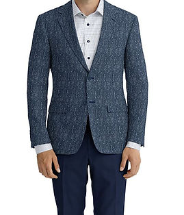 Cerruti Oxygen Blue Herringbone Jacket:XI-4393582  Lining:L4-4072797  Trouser:C3-4394928  Shirt:N6-4071977